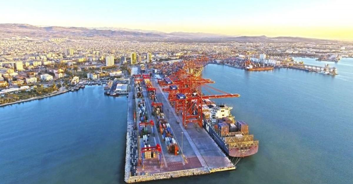 An aerial view of Mersin Port on Turkey's Mediterranean coast. (?HA Photo)