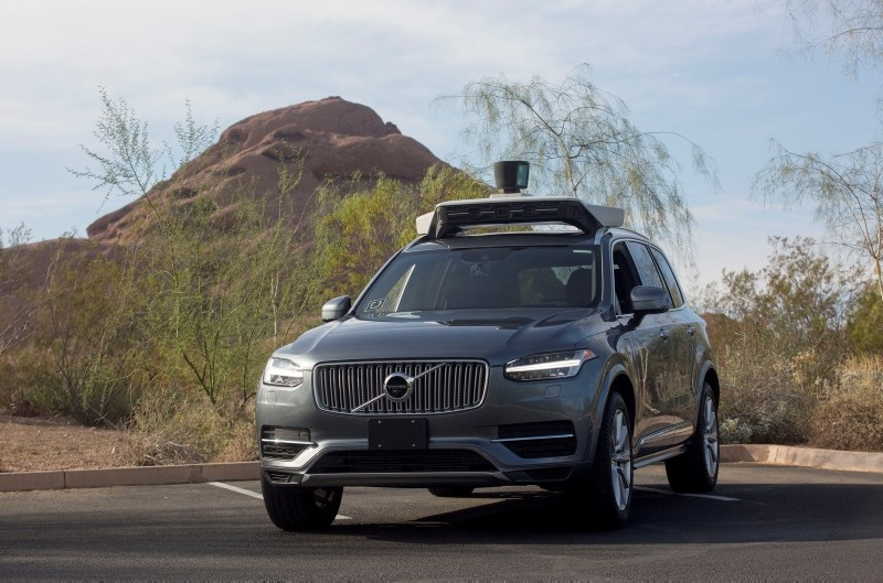 A self driving Volvo vehicle, purchased by Uber, sits in a parking lot in Phoenix, Ariz., U.S., Dec. 1, 2017. (Reuters Photo)