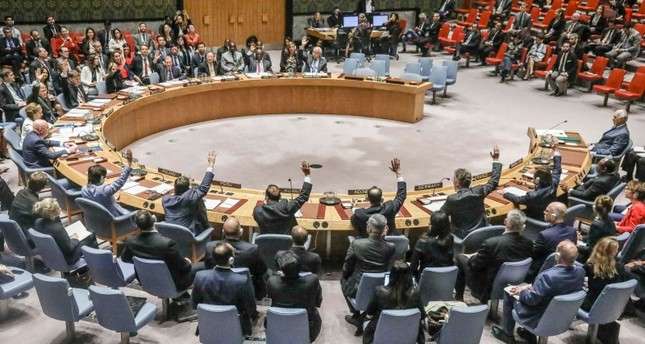 United Nations Security Council vote on a humanitarian draft resolution for Syria, which fail to gain the support of Russia and China, Thursday Sept. 19, 2019 at U.N. headquarters. (AP Photo)