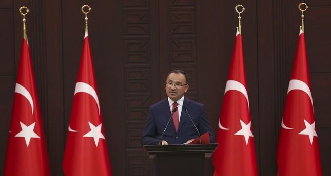 Deputy Prime Minister Bekir Bozdağ speaks to press following a cabinet meeting on July 24, 2017 in Ankara Turkey. (AA Photo)