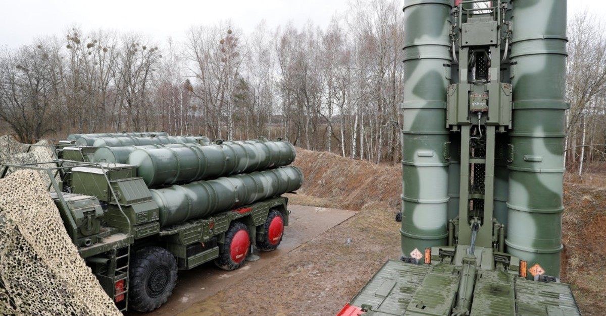 The new S-400 Triumph surface-to-air missile system after its deployment at a military base outside the town of Gvardeysk near Kaliningrad, March 11, 2019.