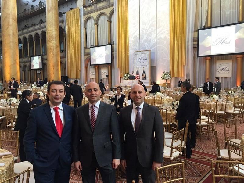 Cemil Teber, Bilal Eku015fili, Su00fcleyman Turhanou011fullaru0131 at Republican Party National Committee's dinner in Washington, DC.  ( Facebook Photo)