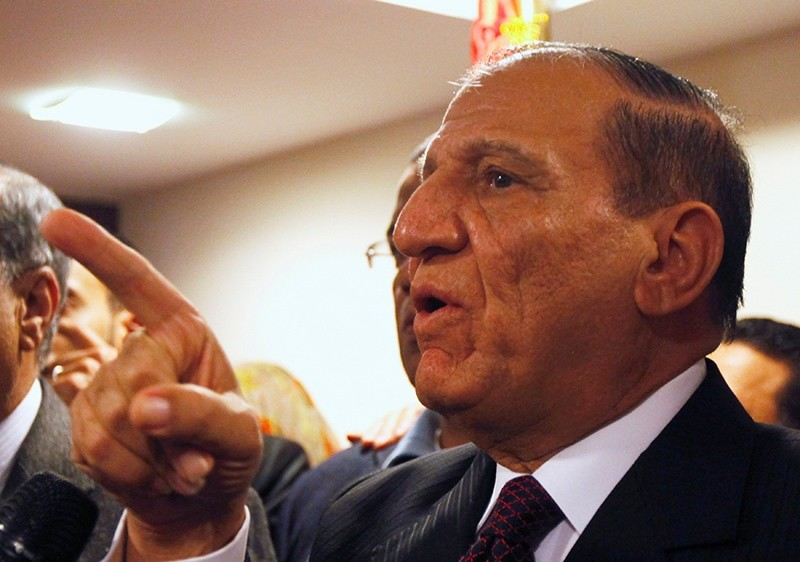 Egypt's former army chief of staff Sami Anan speaks during a news conference at his office in Cairo, Egypt, March 13, 2014. (Reuters Photo)