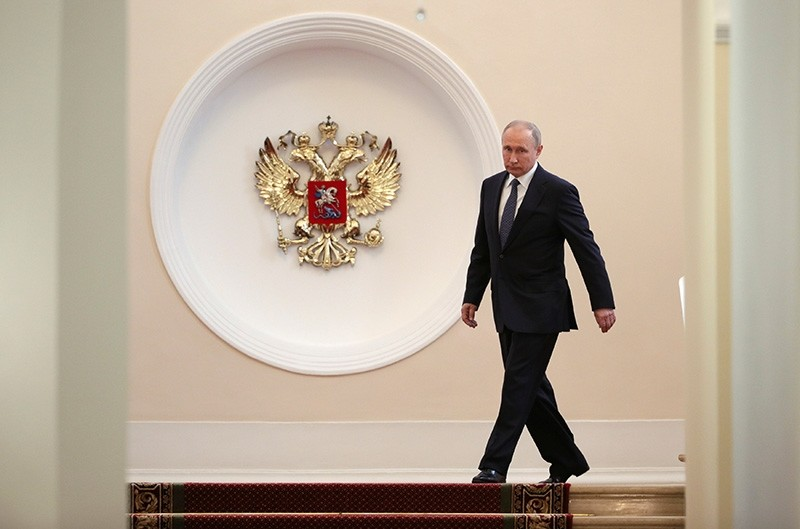 Russian President Vladimir Putin walks before an inauguration ceremony at the Kremlin in Moscow, Russia May 7, 2018. (Reuters Photo)