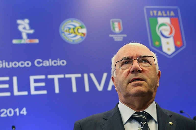 Carlo Tavecchio, Italian soccer federation (FIGC) president, resigned on Nov. 20, 2017, a week after the national team failed to qualify for the World Cup finals. (Reuters Photo)