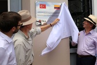 A school in rural Colombia built by Turkey's aid agency opened with a ceremony attended by President Juan Manuel Santos.