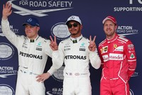 Lewis Hamilton breaks Suzuka lap record as he seizes pole for Japanese Grand Prix