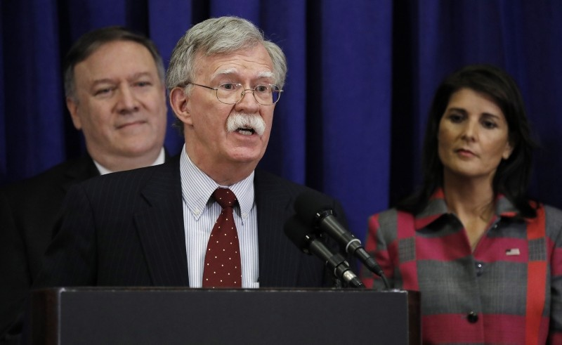 U.S. National Security Advisor John Bolton during a press conference on the sidelines of the 73rd session of the General Assembly of the U.N. in New York, 24 Sept. 2018. (EPA Photo)