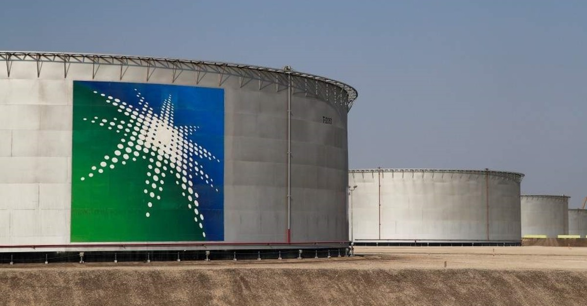 Oil tanks at Saudi Aramco oil facility in Abqaiq, Saudi Arabia. (Reuters Photo)