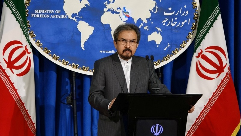 Iranian Foreign Ministry spokesman Bahram Qassemi speaks at a press conference.