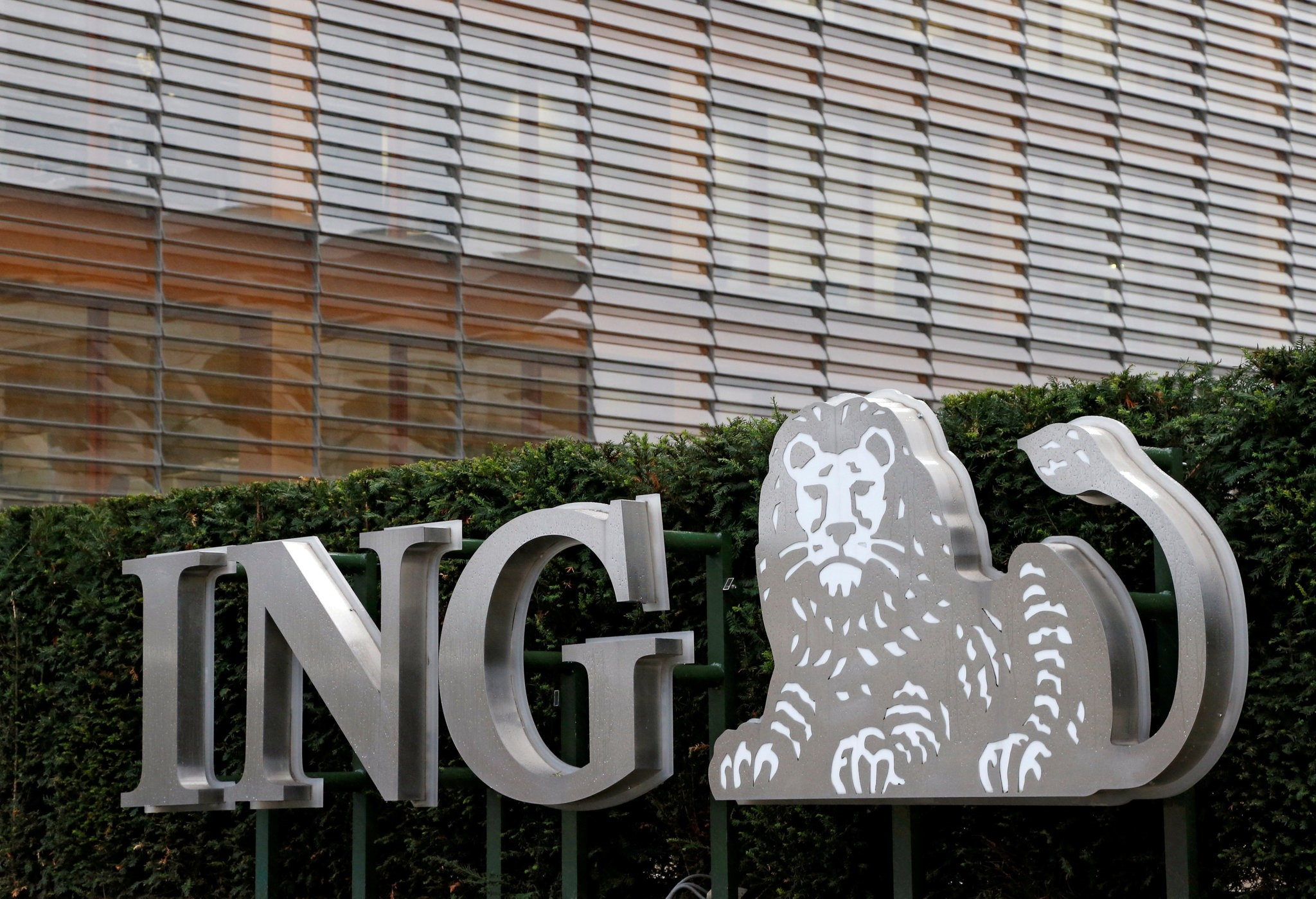 The logo of ING bank is seen at the entrance of the group's office in Brussels, Belgium, October 3, 2016. (Reuters Photo)