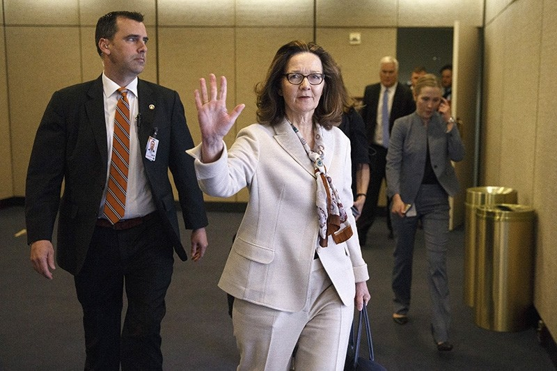 CIA Director Gina Haspel walks to a secure hearing room to testify during the closed portion of her Senate Select Intelligence Committee confirmation hearing in Washington, DC, May 9, 2018. (EPA Photo)