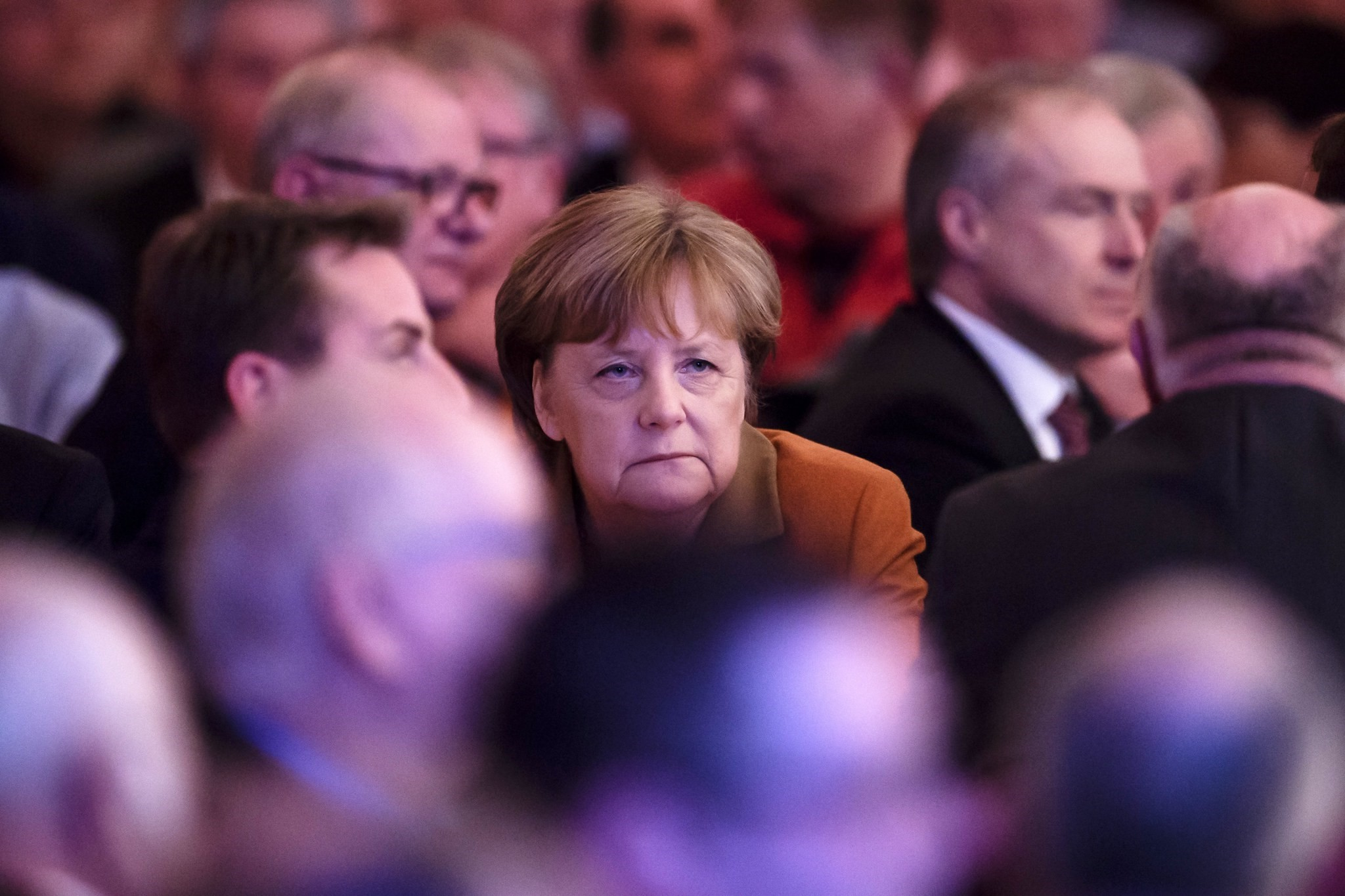 German Chancellor Angela Merkel (C) attends the 22nd Political Ash Wednesday of the Christian Democratic Union (CDU) in Demmin, Germany, 01 March 2017 (EPA Photo)