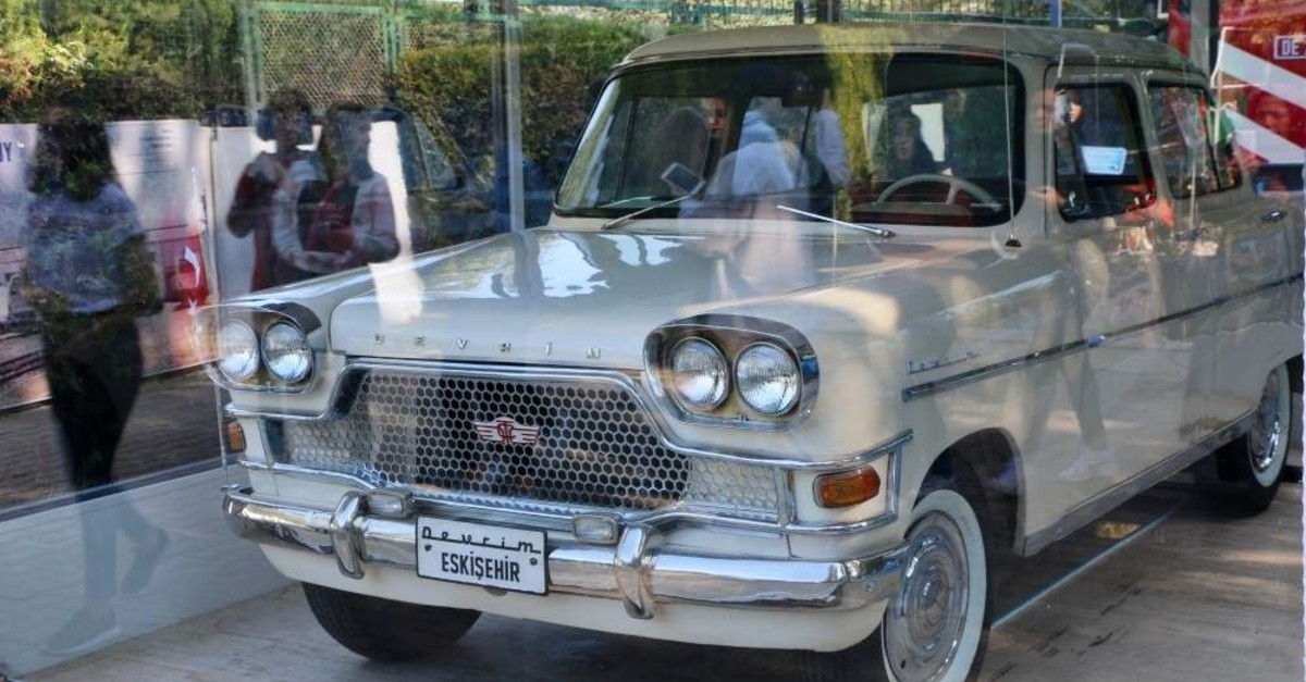 The only one of the original four Devrim cars that have reached today on display at a museum in the central province of Eski?ehir, Oct. 28, 2019. (AA Photo)