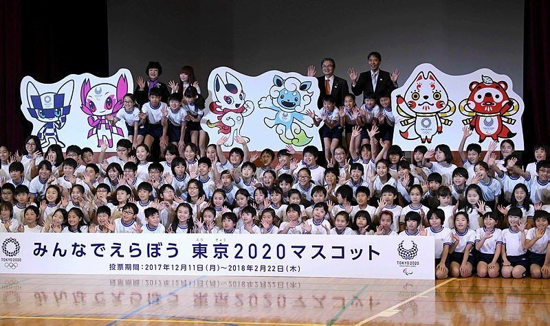 Japan children have been voting the official Tokyo 2020 Olympic Games mascots in schools across the country.