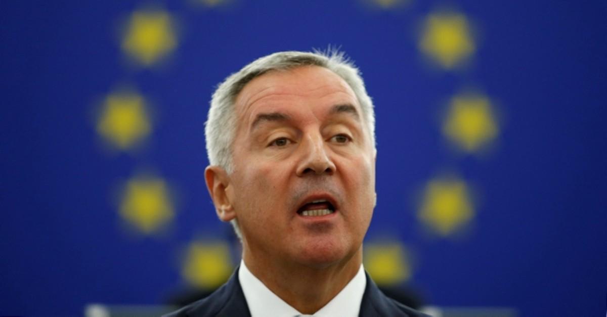 Montenegro's President Milo Djukanovic addresses the European Parliament in Strasbourg, France, Oct. 2, 2018. (Reuters Photo)