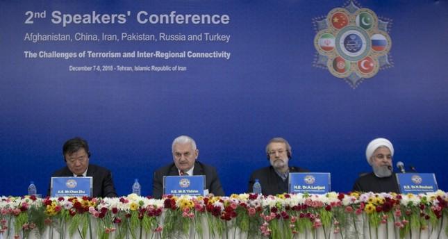 بن علي يلدريم مشاركا في مؤتمر الإرهاب والتعاون الإقليمي (الأناضول)