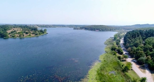 Lake Poyrazlar in Sakarya offers peace and quiet for urban dwellers. (AA Photo)