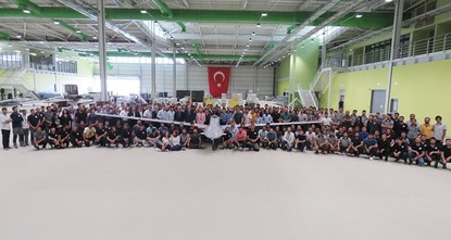 pPresident Recep Tayyip Erdoğan visited late Tuesday the National Unmanned Aerial Vehicle (UAV) Research and Development (R&D) and Production Facility of Baykar Makina in Istanbul, the producer...