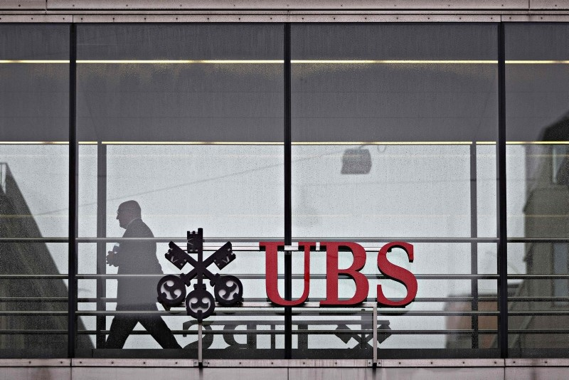 In this file photo taken on January 22, 2018 shows the UBS logo in Zurich (AFP Photo)