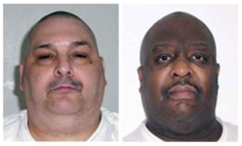 This combination of undated file photos provided by the Arkansas Department of Correction shows death-row inmates Jack Jones, left, and Marcel Williams. (AP Photo)