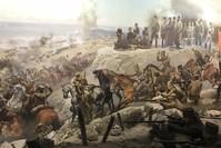 لوحة تجسد معركة بويوك تعرض  التي هزمت فيها القوات اليونانية في 30 أغسطس 1919