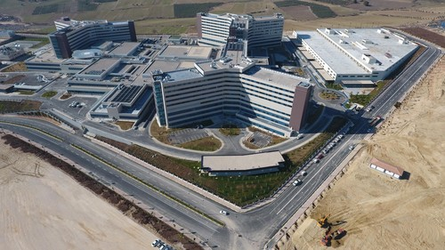 "The city hospital in Mersin reflects Turkey's new approach to healthcare with bigger and modernized hospitals which resembles ""five-star hotels"" as President Erdoğan said."