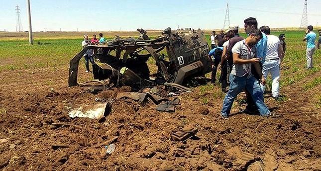 استشهاد 3 من الشرطة التركية في تفجير لـبي كا كا الإرهابية بولاية ماردين