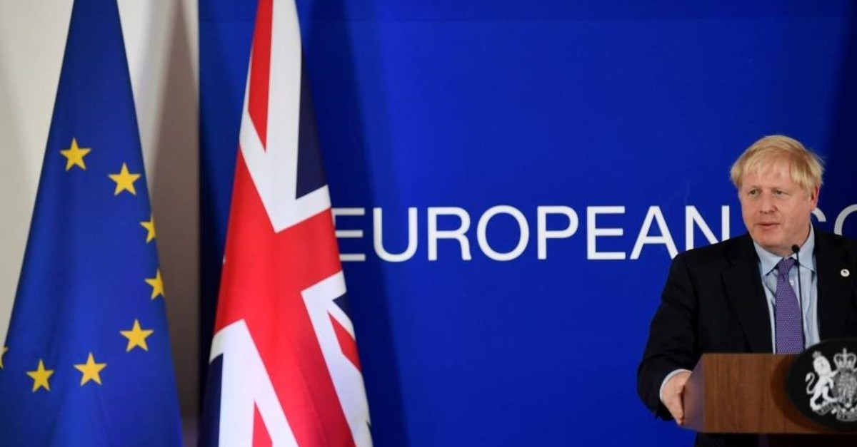 Britain's Prime Minister Boris Johnson speaks during a news conference, Brussels, Oct. 17, 2019. (REUTERS Photo)