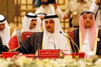 الشيخ تميم بن حمد آل ثاني في المنامة 2017 الفرنسية