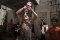 As Middle East summer temperatures soar above 35 degrees Celsius (95 Fahrenheit), Gazans are struggling to stay cool amid a power crisis, with less than four hours of electricity a day and little...