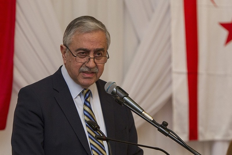 Turkish Cypriot President Mustafa Aku0131ncu0131 (AA Photo)