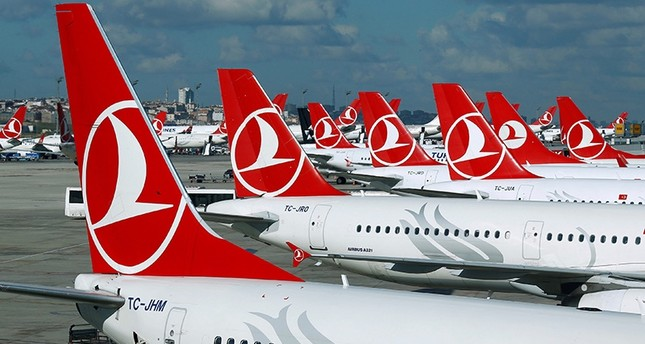 Turkish Airlines aircrafts are parked at the Atatürk International airport in Istanbul, Turkey, December 3, 2015. (Reuters Photo)