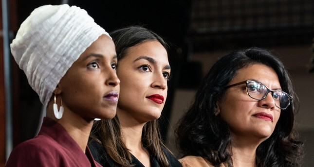 Lawmakers Omar, Ocasio-Cortez and Tlaib EPA Photo
