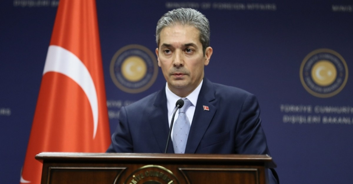 Turkish Foreign Ministry spokesman Hamit Aksoy. (AA File Photo)