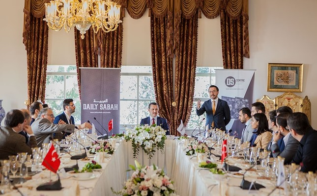 Daily Sabah Editor in Chief Serdar Karagöz (CR) addresses participants of the DS Centre meeting in Istanbul, April 10, 2018. (Photo: Sabah/Hatice Çınar)