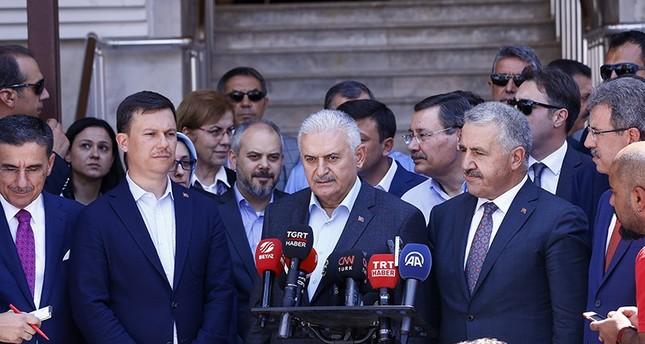 يلدريم يؤكد عدم سماح تركيا بتأسيس دولة مصطنعة على حدودها