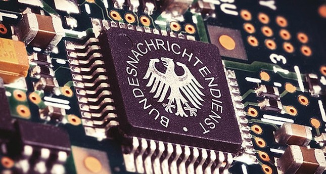 Illustration of a spying CPU inside a computer with the BND logo on it (File Photo)