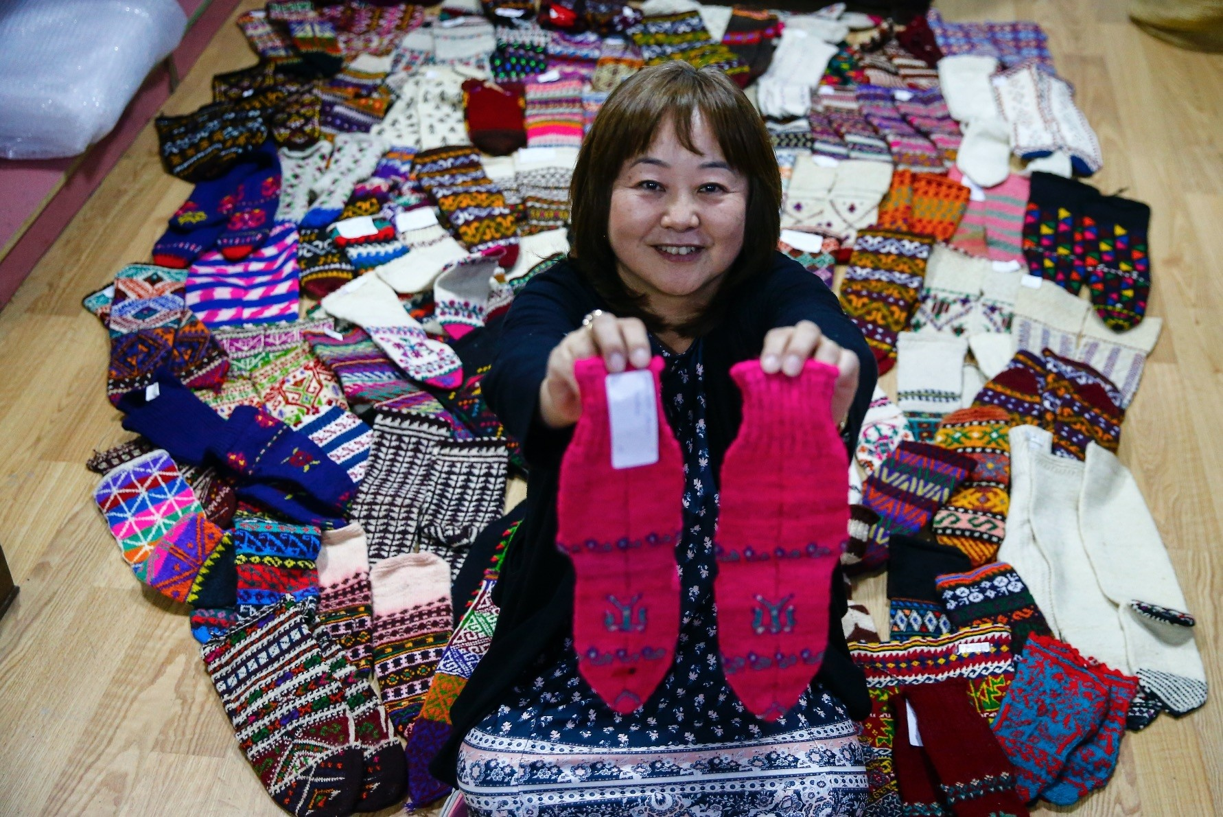 Ikumi Nonaka created a 700-piece collection from these socks she gathered from all over Turkey.