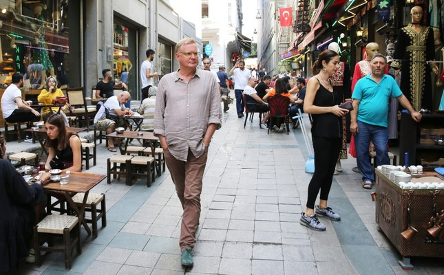 Jochen Proehl walks down on the streets of Istanbul, which he calls home.