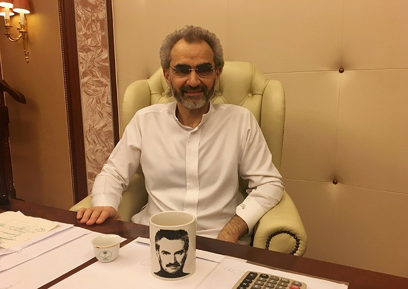 Saudi Arabian billionaire Prince Alwaleed bin Talal sits for an interview with Reuters in the office of the suite where he has been detained at the Ritz-Carlton in Riyadh, Saudi Arabia January 27, 2018. (Reuters Photo)