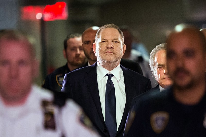 Hollywood film producer Harvey Weinstein enters Manhattan criminal court June 5, 2018 in New York. (AFP Photo)