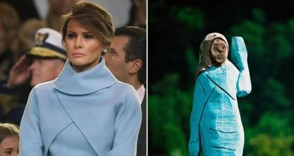 تمثال ميلانيا ترامب في سلوفينيا يثير السخرية.. ماذا قال النحات؟