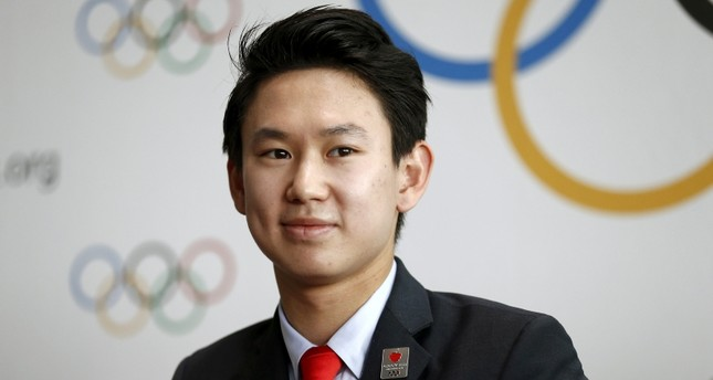 Denis Ten of Kazakhstan, bronze medalist in men's singles figure skating of the 2014 Winter Olympics in Sochi. (REUTERS Photo)
