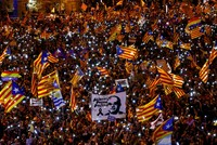 Catalans rally in Madrid to support jailed separatists