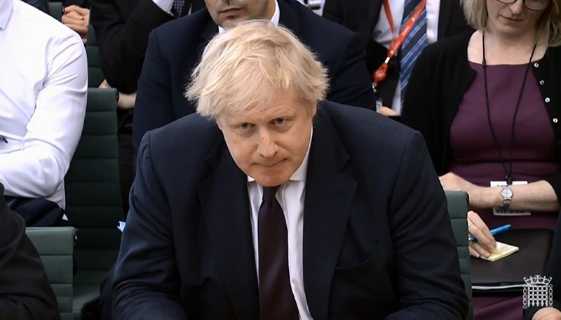 In this image taken from video  Britain's Foreign Secretary Boris Johnson gives evidence to the House of Commons Foreign Affairs Committee in Portcullis House, London Wednesday March 21, 2018. (AFP Photo)