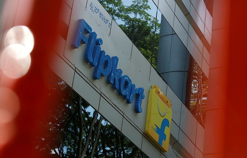 The logo of India's e-commerce firm Flipkart is seen on the company's office in Bengaluru, India April 12, 2018. (Reuters Photo)