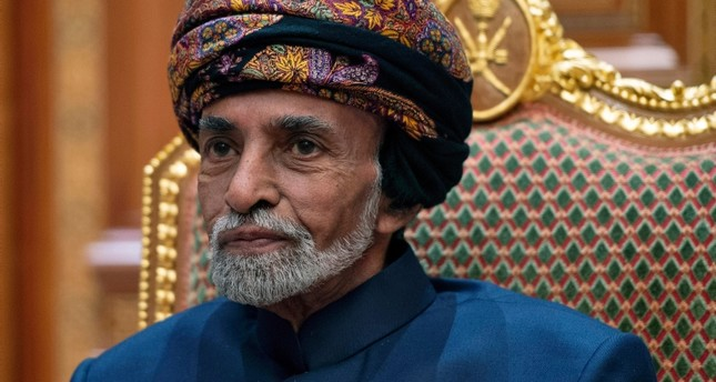 In this Monday, Jan. 14, 2019 file photo, Sultan of Oman Qaboos bin Said sits during a meeting with Secretary of State Mike Pompeo at the Beit Al Baraka Royal Palace in Muscat, Oman AP Photo