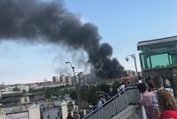 Blaze engulfs factory near Istanbul's Veliefendi Race Course
