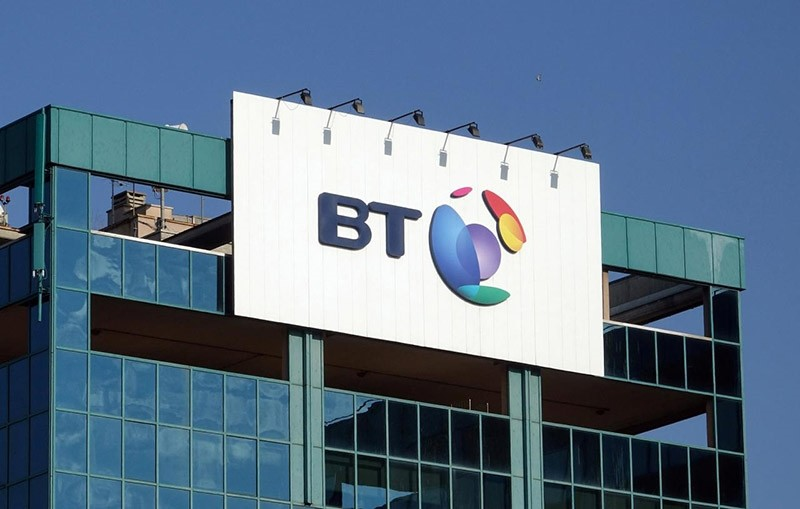 The logo of BT is seen outside the headquarters in Milan, Italy January 24, 2017. (Reuters Photo)